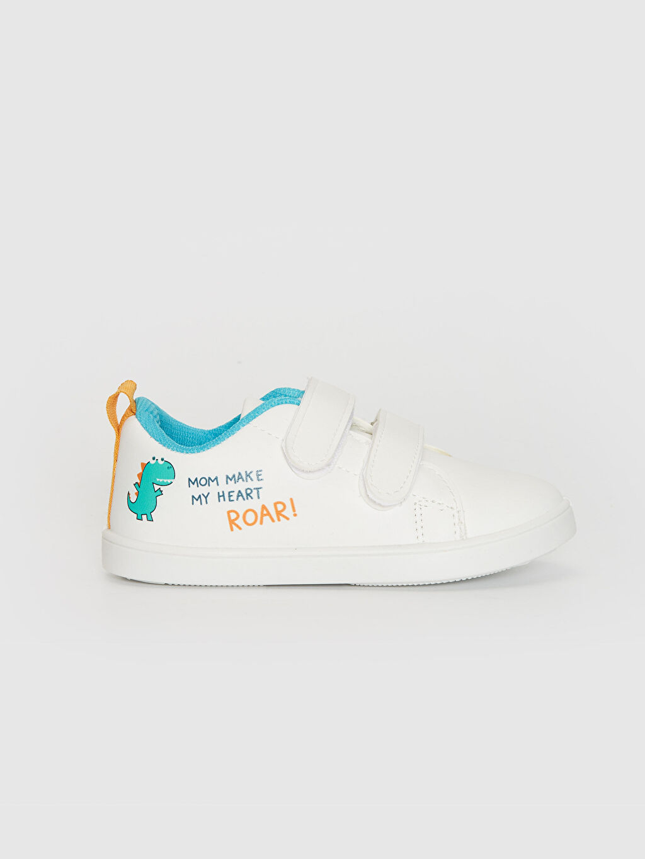 Beyaz Erkek Bebek Cırt Cırtlı Günlük Ayakkabı 0SK719Z1 LC Waikiki