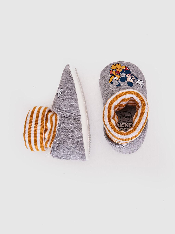 %0 Tekstil malzemeleri (%78 pamuk,%22 poliester) Işıksız Yürümeyen Diğer Erkek Bebek Mickey Mouse Lisanslı Çoraplı Ev Ayakkabısı