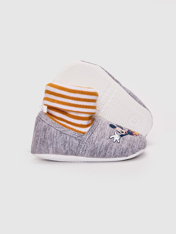 Erkek Bebek Erkek Bebek Mickey Mouse Lisanslı Çoraplı Ev Ayakkabısı