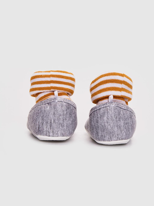 Erkek Bebek Mickey Mouse Lisanslı Çoraplı Ev Ayakkabısı
