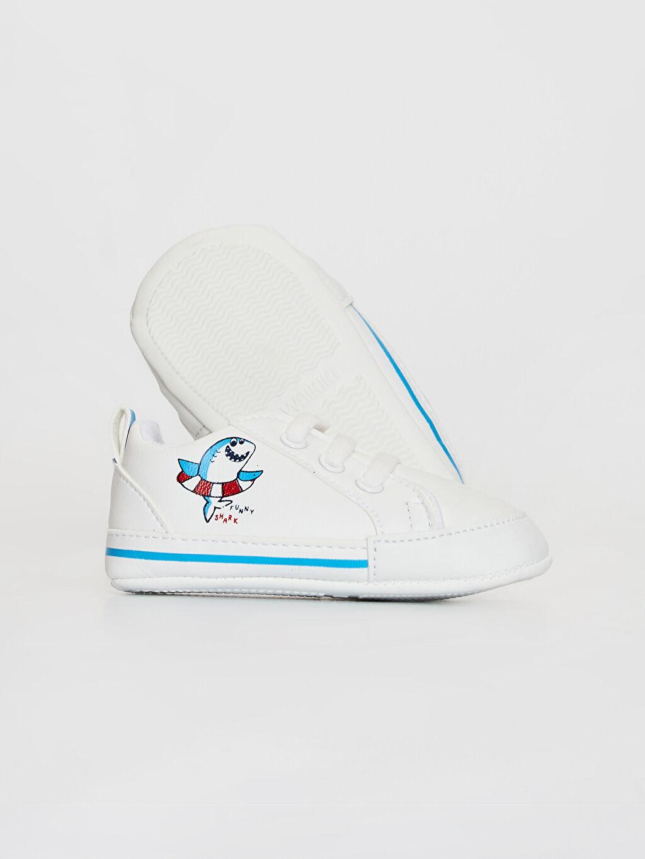 Erkek Bebek Erkek Bebek Bağcıklı Yürüme Öncesi Ayakkabı