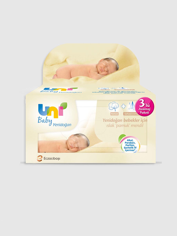Beyaz Uni Baby Sensitive İslak Havlu 3'Lü Paket 0SM089Z1 LC Waikiki