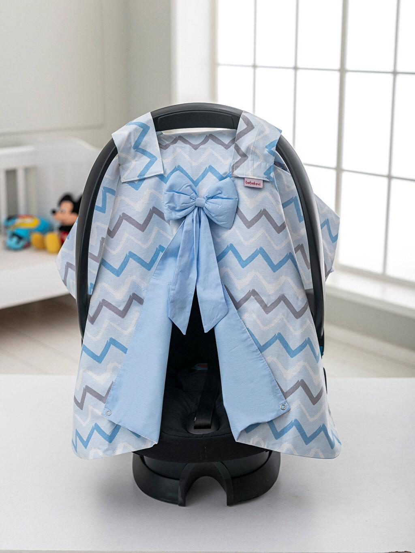 Erkek Bebek Erkek Bebek Desenli Puset Örtüsü