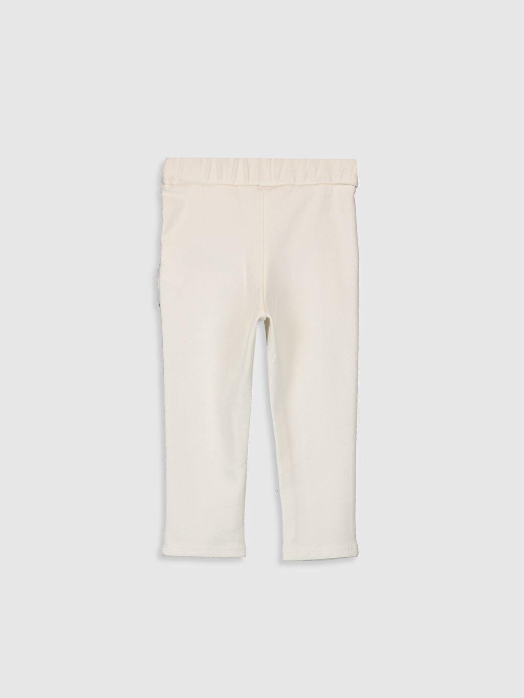 %66 Pamuk %30 Polyester %4 Elastan Düz Standart Standart Günlük Pantolon Çelikli İnterlok Kız Bebek Pantolon