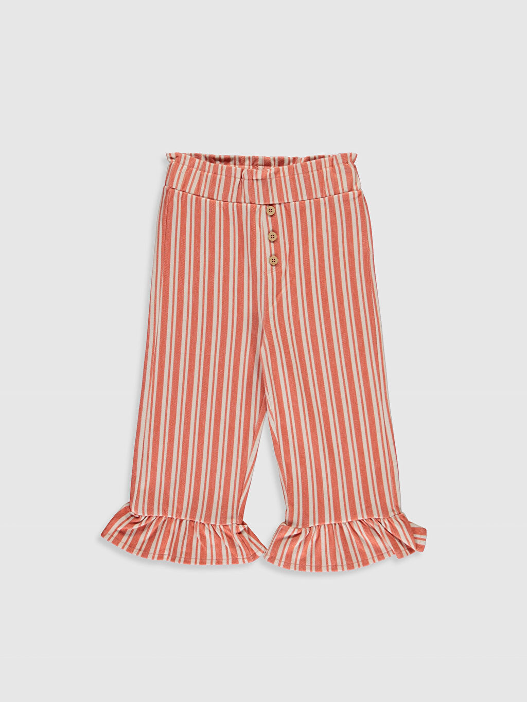 Turuncu Kız Bebek Çizgili Pantolon 0SN170Z1 LC Waikiki