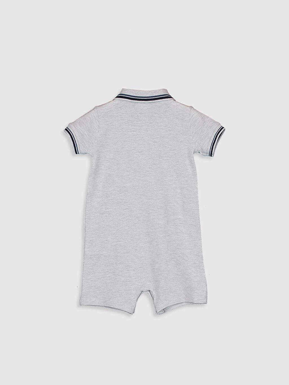 %100 Pamuk Orta Kalınlık Kısa Kol %100 Pamuk Aksesuarsız Patiksiz Astarsız Polo Yaka Tulum Dolgusuz Erkek Bebek Pamuklu Tulum