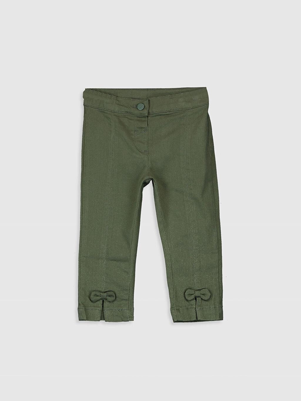 Yeşil Kız Bebek Pamuklu Pantolon 0SN418Z1 LC Waikiki