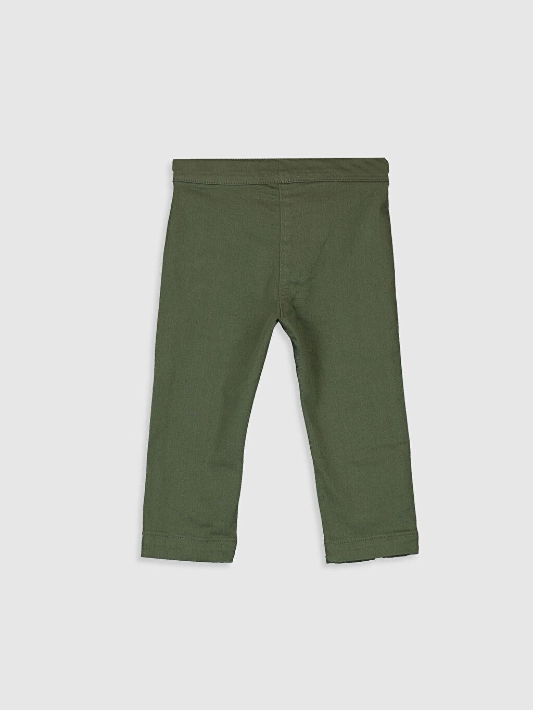 %97 Pamuk %3 Elastan Smart Casual Standart Pantolon Düz Gabardin Orta Kalınlık Kız Bebek Pamuklu Pantolon