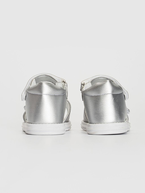 Kız Bebek Fiyonk Detaylı Cırt Cırtlı Sandalet