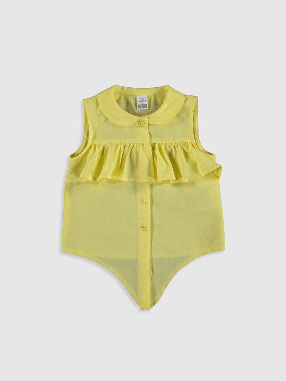 Sarı Kız Bebek Fırfırlı Bluz 0SO761Z1 LC Waikiki