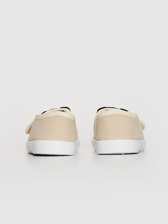 Erkek Bebek Nakış Detaylı Bez Günlük Spor Ayakkabı