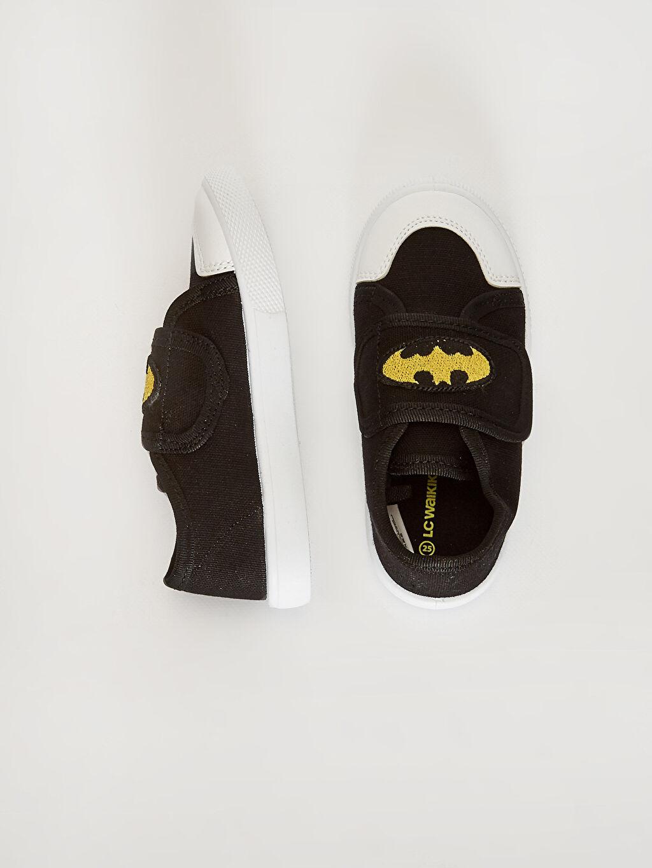 Işıksız Batman Sneaker Cırt Cırt Erkek Bebek Batman Lisanslı Bez Günlük Ayakkabı
