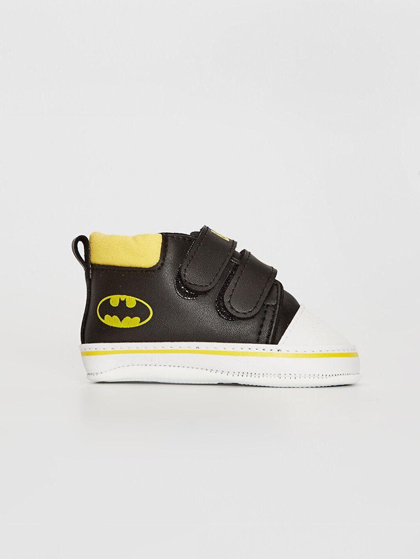 Diğer malzeme (pvc) Cırt Cırt Işıksız Yürümeyen Erkek Bebek Batman Lisanslı Cırt Cırtlı Yürüme Öncesi Bot