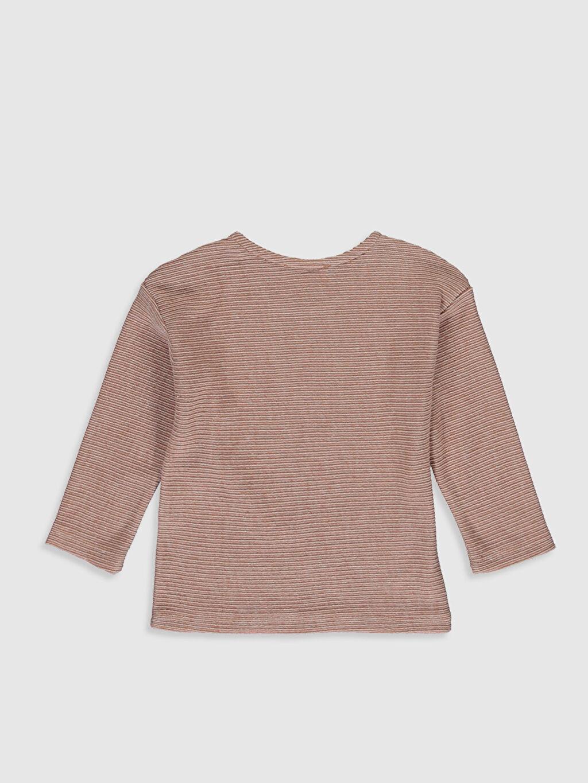%61 Pamuk %39 Polyester Uzun Kol Aksesuarsız Sweatshirt Sweatshirt Bisiklet Yaka Günlük Çizgili Erkek Bebek Yazı Baskılı Sweatshirt