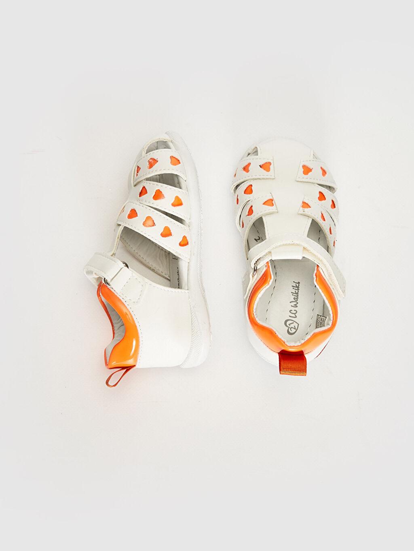 %0 Diğer malzeme (poliüretan) Sandalet PU Astar Işıksız Cırt Cırt Kız Bebek Parlak Görünümlü Cırt Cırtlı Sandalet
