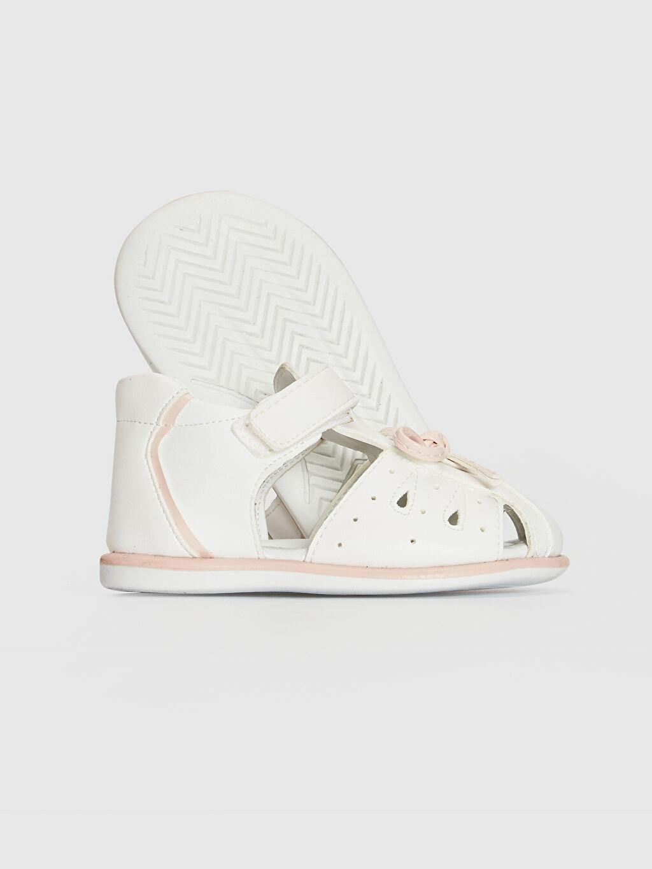 0SC119Z1 Kız Bebek Fiyonk Detaylı Cırt Cırtlı Sandalet