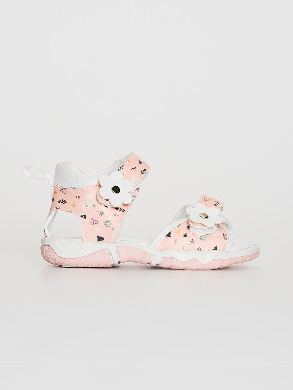 Beyaz Kız Bebek Cırt Cırtlı Şık Sandalet 0SC121Z1 LC Waikiki