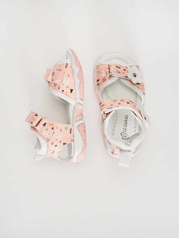 %0 Diğer malzeme (poliüretan) Sandalet PU Astar Işıksız Cırt Cırt Kız Bebek Cırt Cırtlı Şık Sandalet