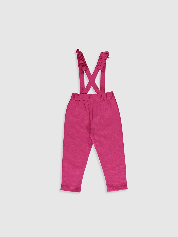 %100 Pamuk %100 Pamuk Standart Günlük Pantolon İki İplik Düz Standart Kız Bebek Pantolon