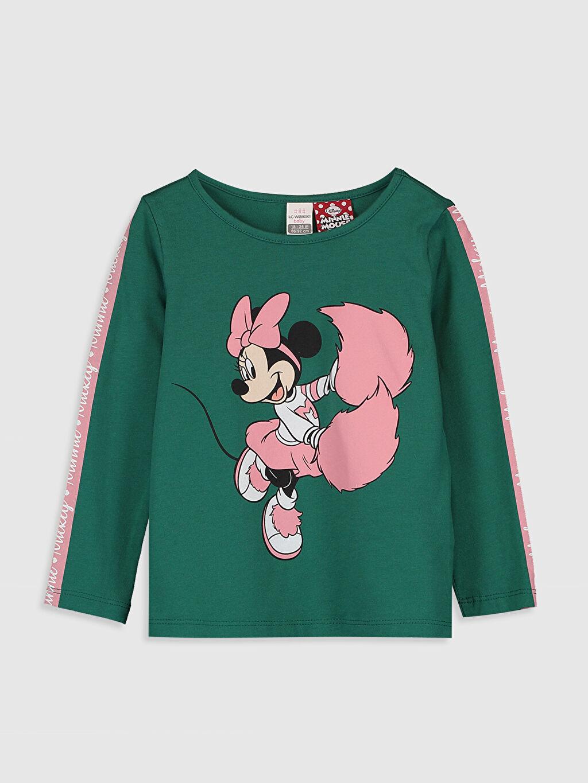 Turkuaz Kız Bebek Minnie Mouse Baskılı Tişört  0SC429Z1 LC Waikiki
