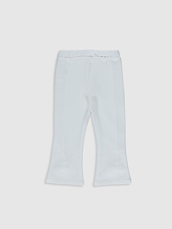 %64 Pamuk %31 Polyester %5 Elastan Çelikli İnterlok Standart Günlük Orta Kalınlık Eşofman Altı Düz Standart Kız Bebek Pantolon