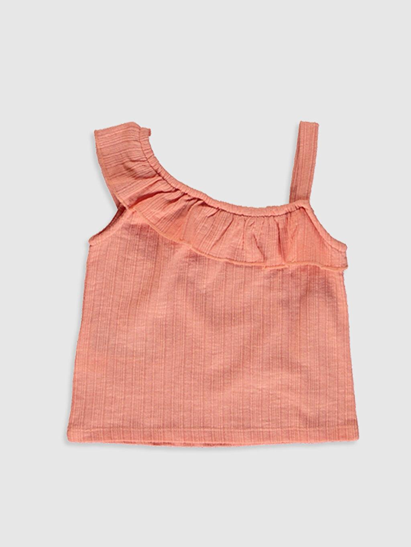 %67 Pamuk %33 Polyester Askılı Suprem A Kesim Atlet Standart Düz Diğer Şık Kız Bebek Basic Tişört
