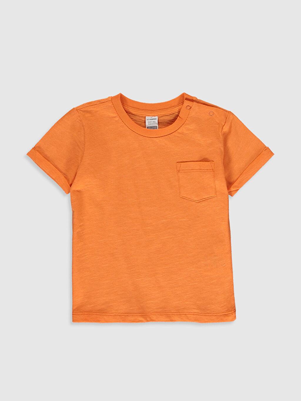 Turuncu Erkek Bebek Basic Pamuklu Tişört 0SD922Z1 LC Waikiki