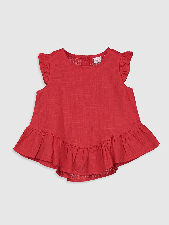 Kırmızı Kız Bebek Fırfırlı Bluz 0SE022Z1 LC Waikiki