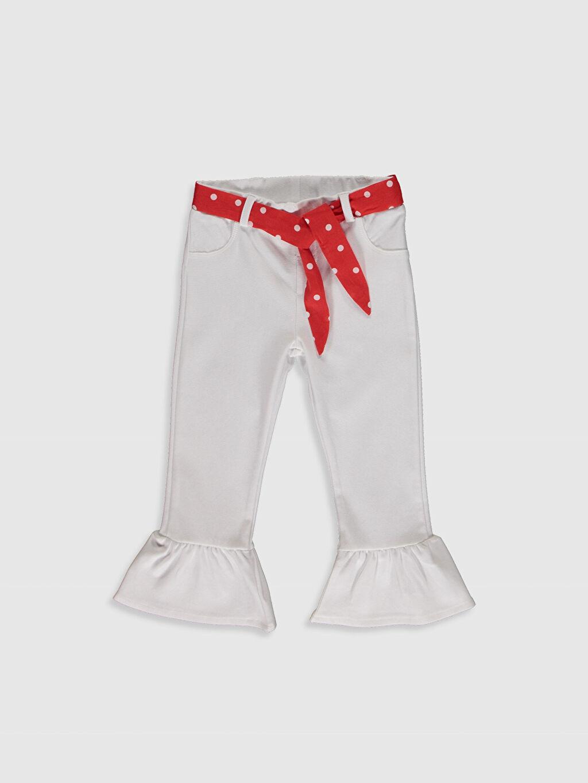 Beyaz Kız Bebek Pantolon 0SF369Z1 LC Waikiki
