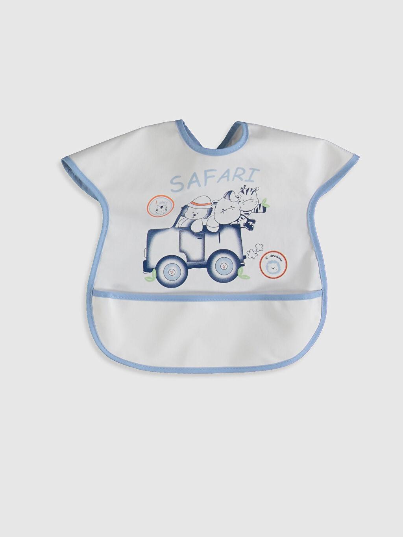 Beyaz Erkek Bebek Baskılı Mama Önlüğü 0SP305Z1 LC Waikiki