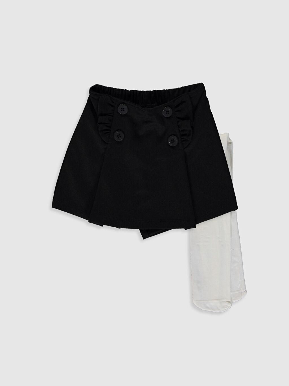 Siyah Kız Bebek Etek ve Külotlu Çorap 0SU362Z1 LC Waikiki