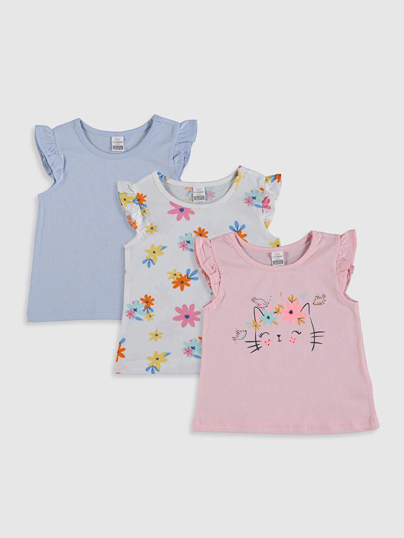 Pembe Kız Bebek Tişört 3'lü 0SV274Z1 LC Waikiki