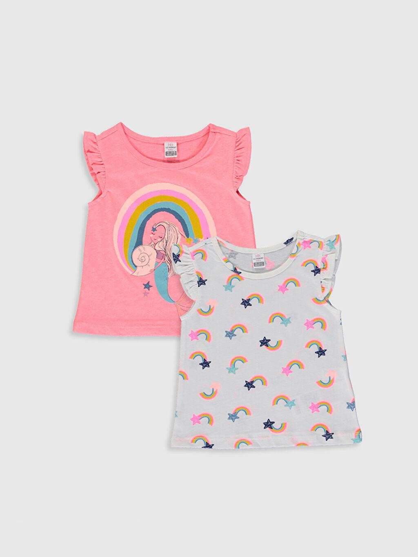Pembe Kız Bebek Baskılı Tişört 2'li  0SV279Z1 LC Waikiki