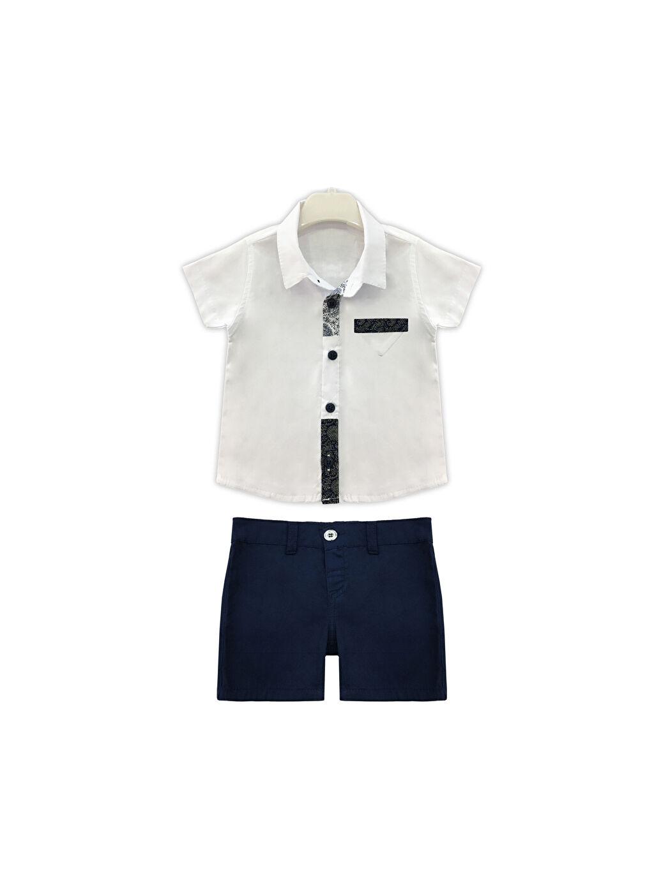 Beyaz By Leyal For Kids Erkek Bebek Gömlek ve Şort 0SAO39Z1 LC Waikiki