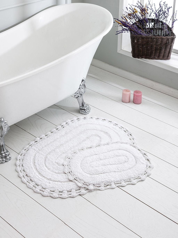 Beyaz Dantelli Banyo Paspası 2'Li 0SC451Z8 LC Waikiki
