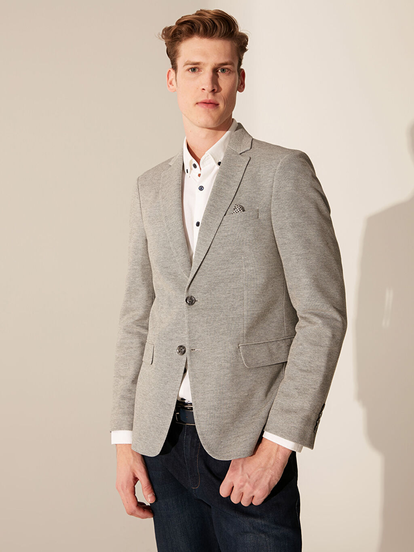 %10 Pamuk %90 Polyester %100 Polyester Yarım Astar Dar Düz Blazer Ceket Dar Kalıp Blazer Ceket
