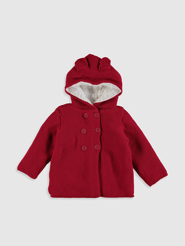 Kırmızı Kız Bebek Triko Hırka 0W4881Z1 LC Waikiki