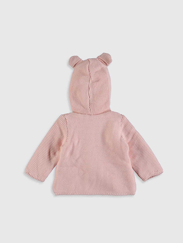 %100 Akrilik %100 Polyester Hırka Düz Kalın Uzun Kol Kız Bebek Triko Hırka