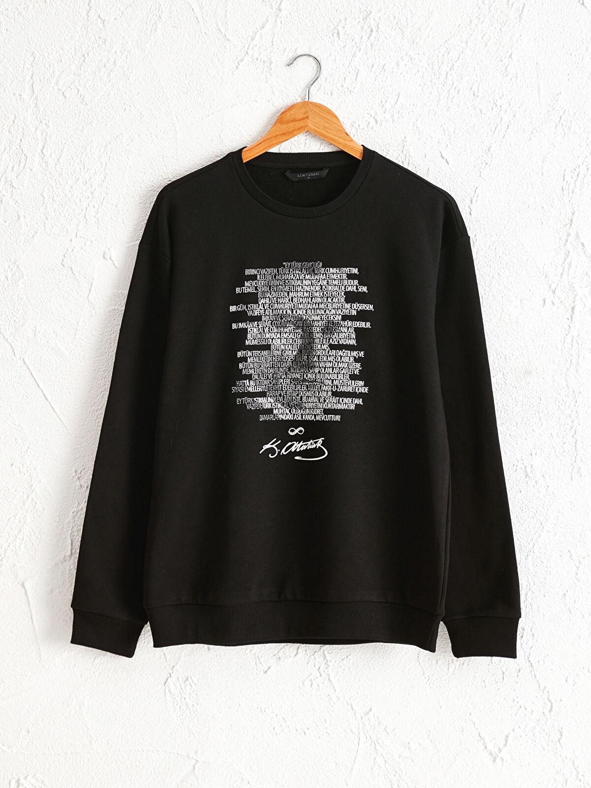 Atatürk Baskılı Pamuklu Sweatshirt - LC WAIKIKI