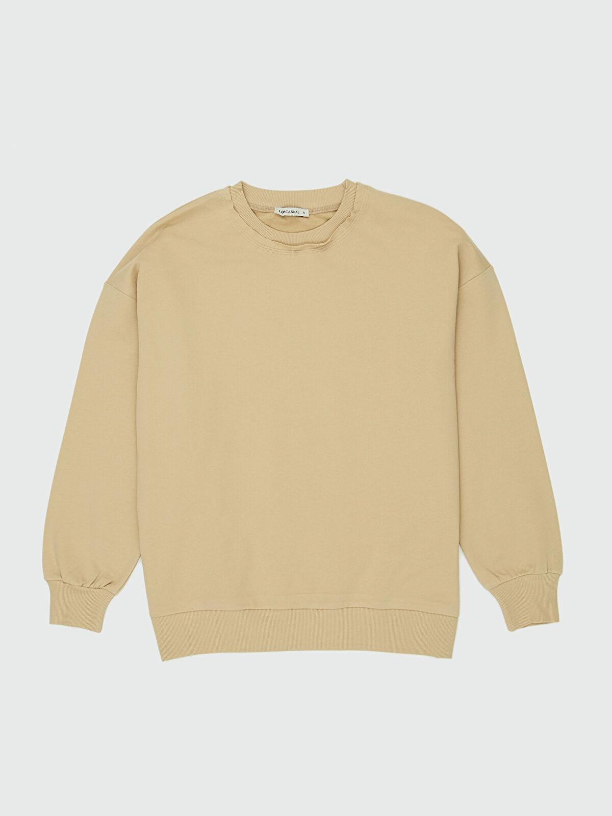 LC WAIKIKI Kadın Düz Basic Sweatshirt