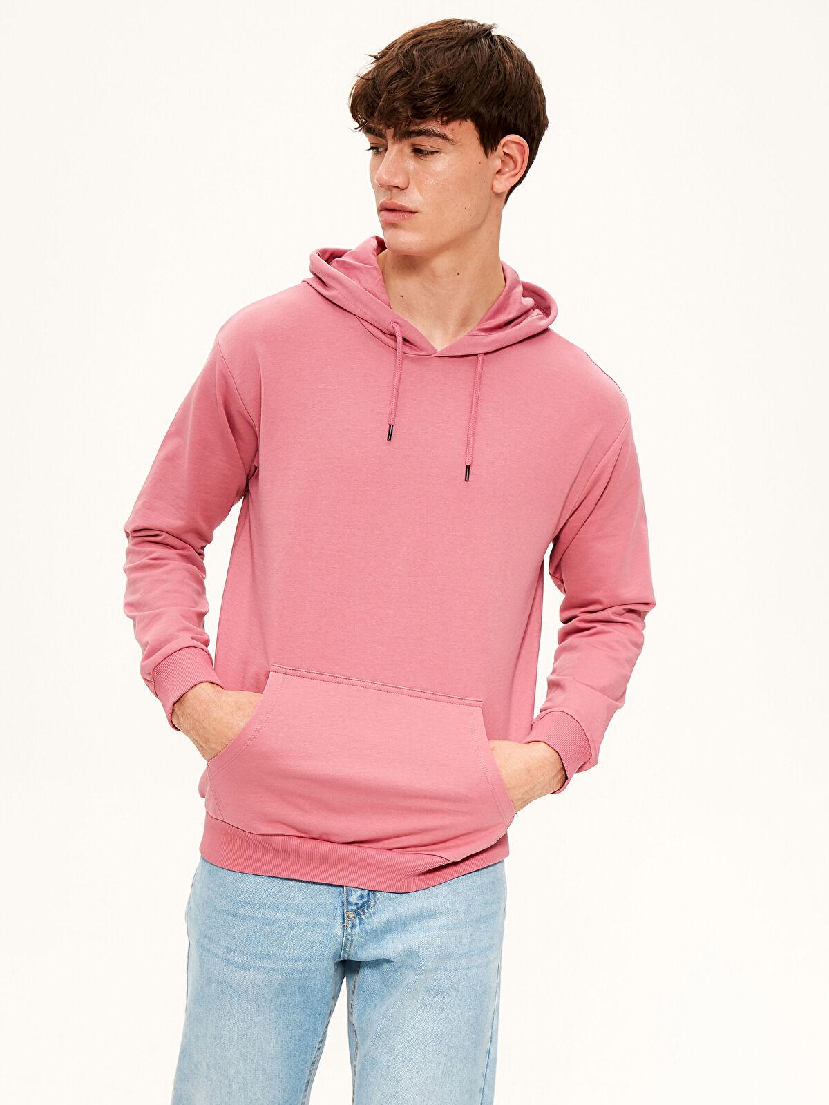 Kapüşonlu Basic Kalın Sweatshirt - LC WAIKIKI