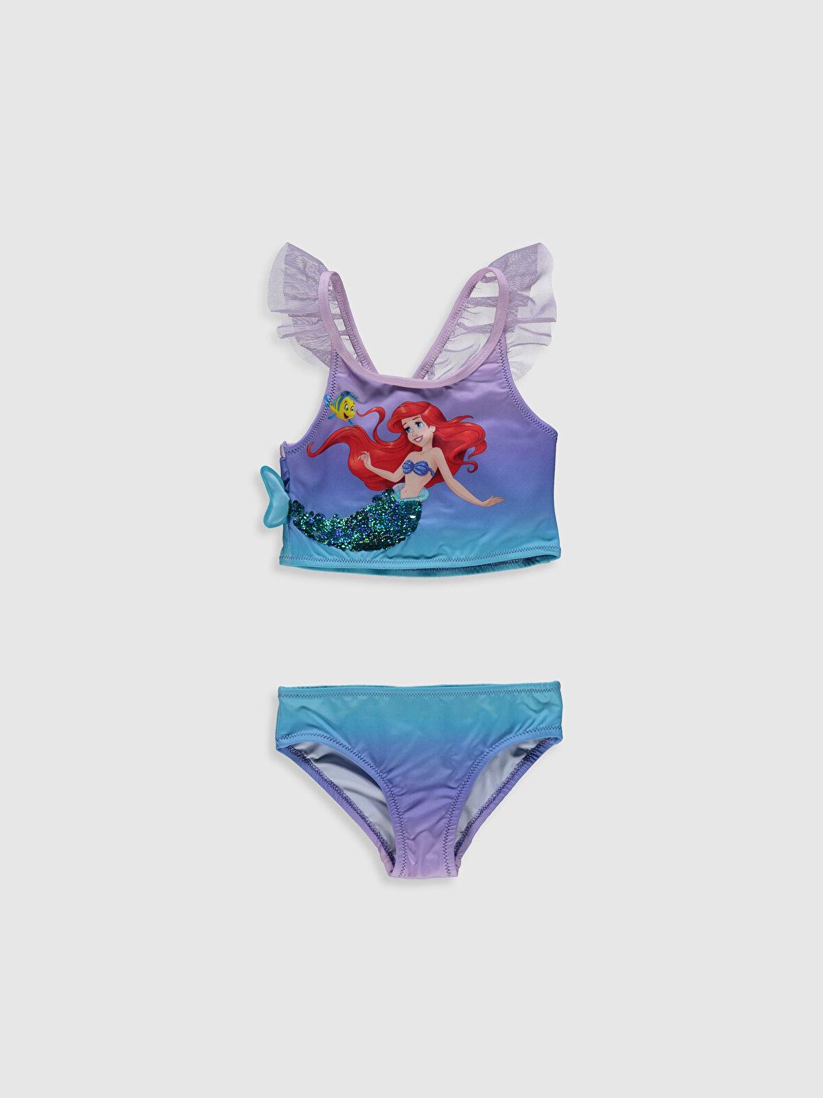 Kız Çocuk Deniz Kızı Baskılı Bikini - LC WAIKIKI