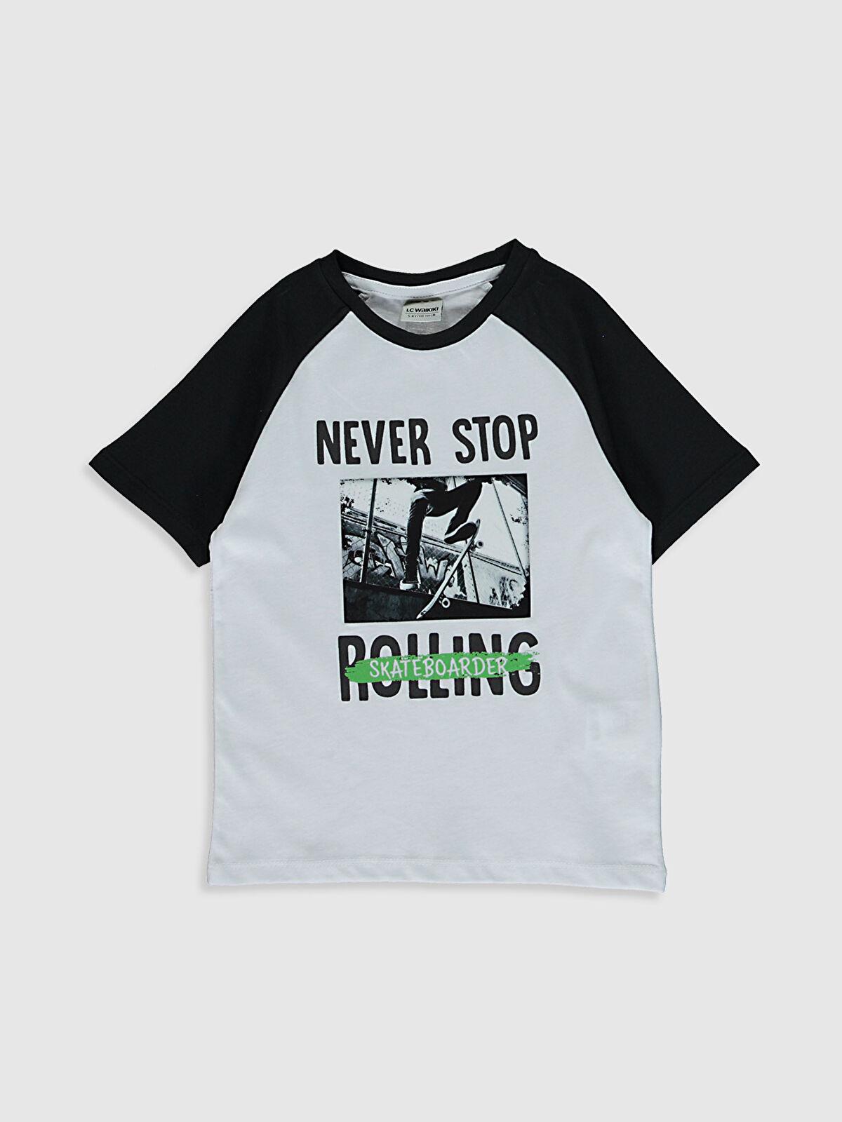 Erkek Çocuk Baskılı Pamuklu Tişört - LC WAIKIKI