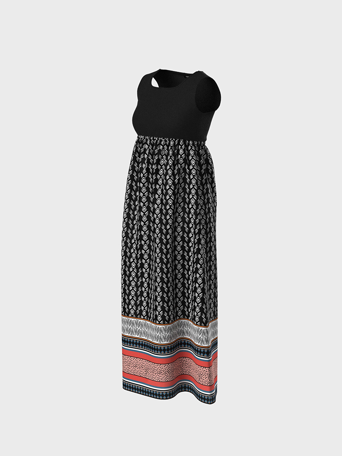 Desenli Uzun Hamile Elbise - LC WAIKIKI