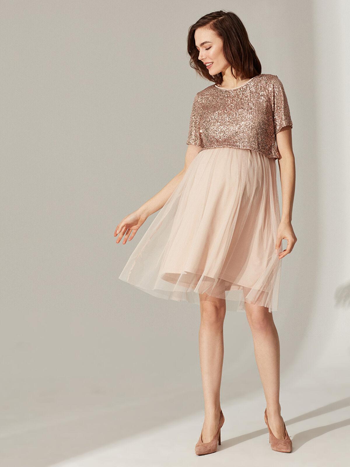 Hamile Pul İşlemeli Elbise - LC WAIKIKI