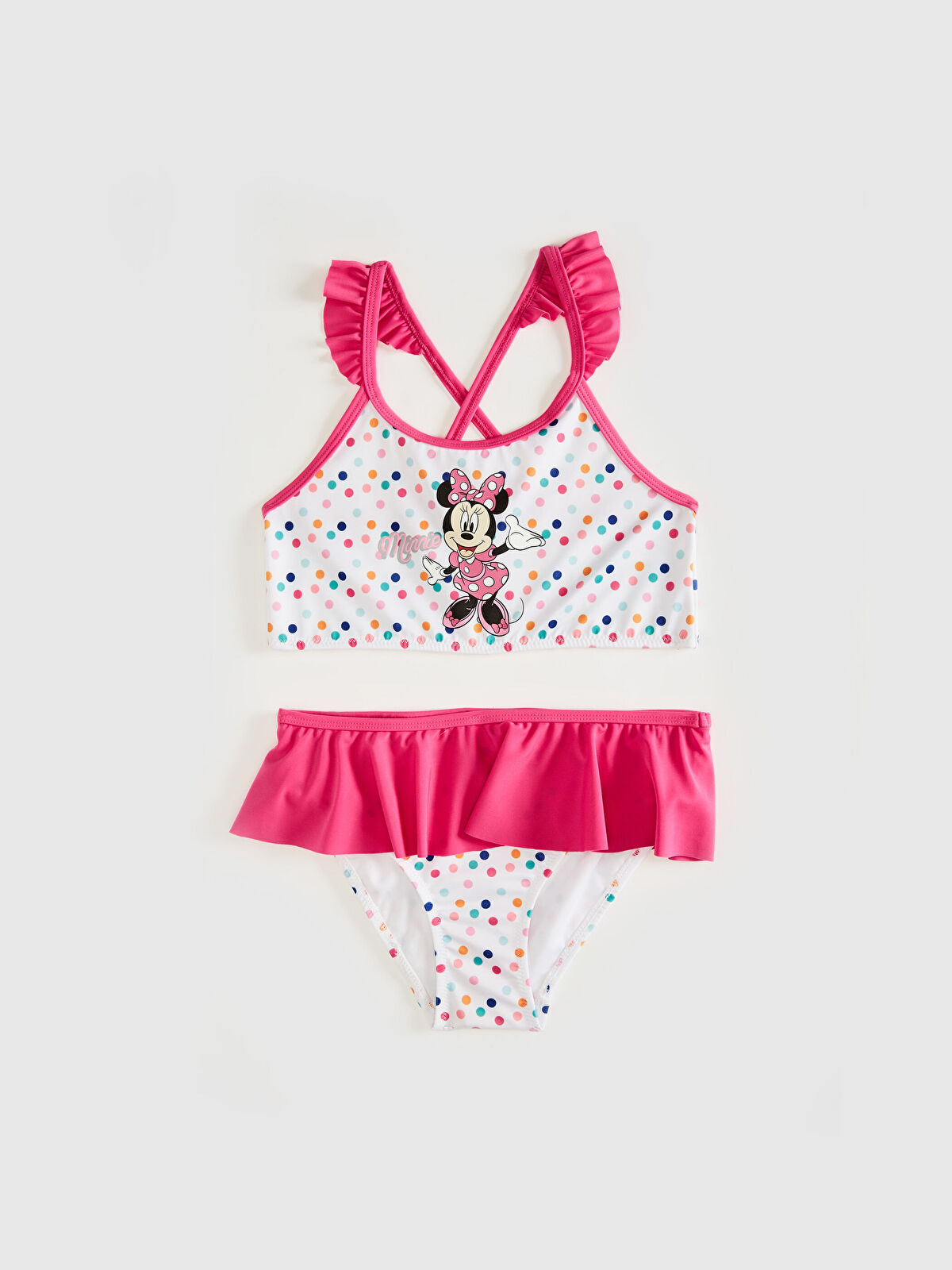 Kız Çocuk Minnie Mouse Baskılı Bikini - LC WAIKIKI