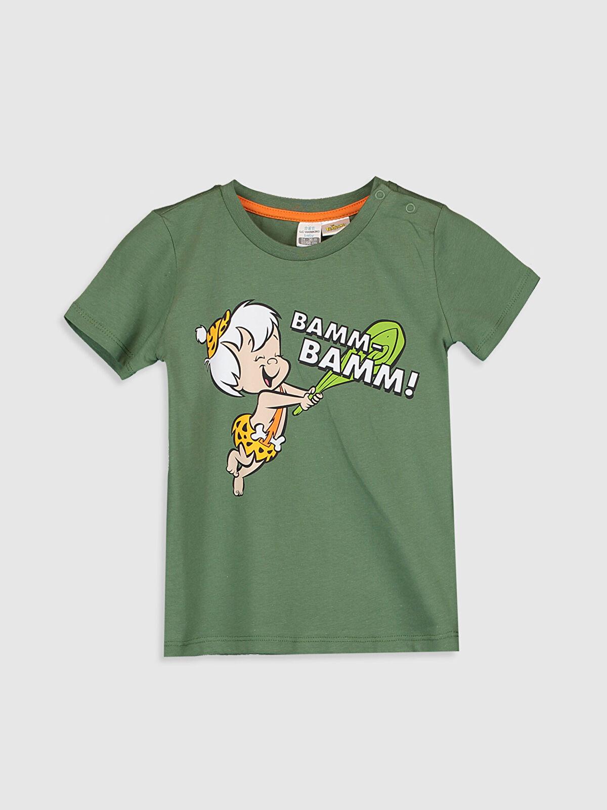 Erkek Bebek Bambam Moloztaş Baskılı Pamuklu Tişört - LC WAIKIKI