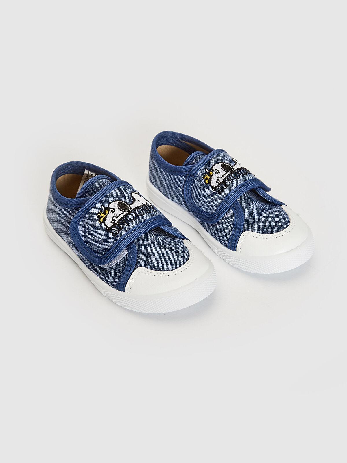 Erkek Bebek Snoopy Lisanslı Nakışlı Bez Sneaker - LC WAIKIKI