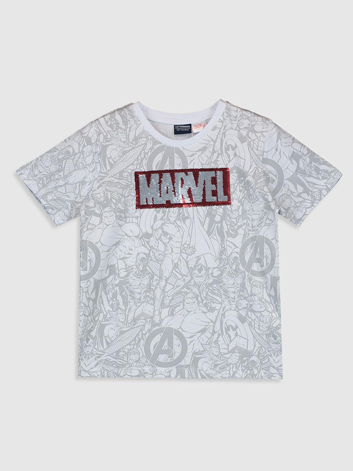 Erkek Çocuk Çift Yönlü Payetli Marvel Tişört - LC WAIKIKI