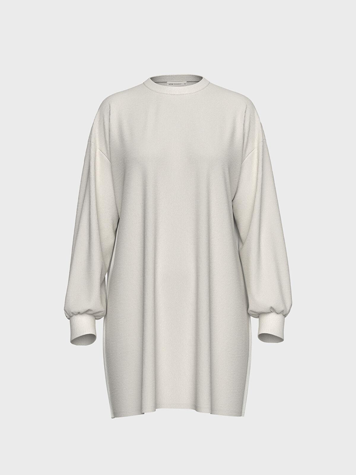 Sırtı Pili Detaylı Oversize Sweatshirt - LC WAIKIKI
